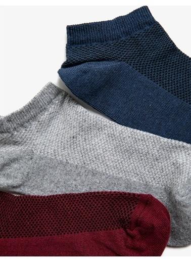 Koton Erkek 3'Lü Çorap Seti Gri